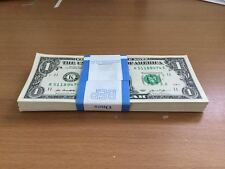 100 Pack of 2013 Consecutive $1 Unc Paper Currency Money Notes
