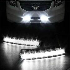 Car Light 8LED DRL Fog Driving Daylight Daytime Running LED White Head Lamp Pop