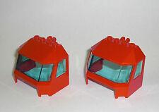 LEGO Eisenbahn - 2x Cockpit rot - Zug Front Train Cab Lok Führerhaus 60098 45406