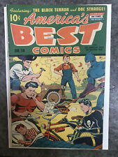 New ListingAmerica'S Best Comics #14 Fine Minus! 5.5 1945 Schomburg Cover! Black Terror