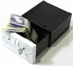 Imitation Double Plug Socket Wall Safe Diversion Secure Secret Hidden Box 2 Keys