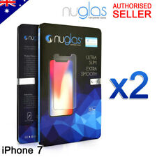2x Genuine Nuglas Premium Tempered Glass Screen Protector for Apple iPhone 7