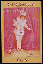 c1905 Pierrot Ridgways Tea Norman Davy Advertising Postcard B156