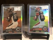 2011 Topps Chrome AJ Green Refractor Sepia /99 Rookie RC 2 Card Lot