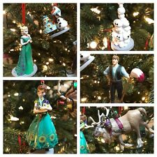 Disney Christmas Ornament Set Frozen PVC  6 PC NEW! Ana, Elsa, Olaf And More!