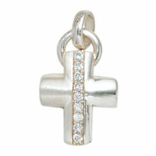 Halsketten und Anhänger mit Edelsteinen aus Sterlingsilber Kreuz-Sets