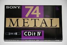 SONY  CDit  METAL IV     74      BLANK CASSETTE TAPE (1) (SEALED)