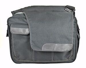 Unisex DIAPER DUDE 'Messenger II' Black Polyester Diaper Bag