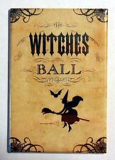 """Vintage Halloween Scary WITCHES BALL 2"""" x 3"""" Fridge MAGNET"""