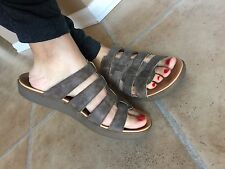 Born Hand Crafted Footwear  Leather Multi straps Slides Sandals 9M EXC
