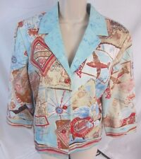 Nancy Bolen City Girl Embellished Blazer Jacket Lined - Women's S - CC52