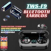 Bluetooth 5.0 Headset TWS Wireless Earphones Mini Earbuds IPX7 Stereo Headphones