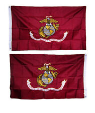 2x3 Embroidered USMC Marines Corps Double Sided 2ply 300D Nylon Flag USA Made