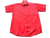 Cinch Mens Red Front Pocket Button Front Shirt Size Small