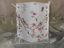 Deko Windlicht Vogel Blütenzweige Schmetterling Tischlicht Unikat Geschenkidee