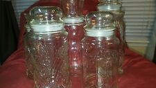Planters mr peanut jars lot of 5
