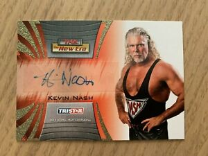 TNA Official Autograph 2010 KEVIN NASH The New Era Wrestling #A12 Stamped 43/50