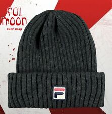 New FILA Black Cuff Black Cap Hat Beanie 78dd763de83