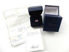 """Chopard Anello """"Love"""" Happy Diamonds con brillanti + Orig. BOX 750er in oro bianco"""