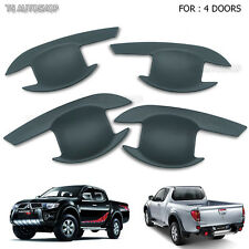 For Mitsubishi Triton L200 2005-2014 4 Door Matte Black Handle Bowl Insert Cover