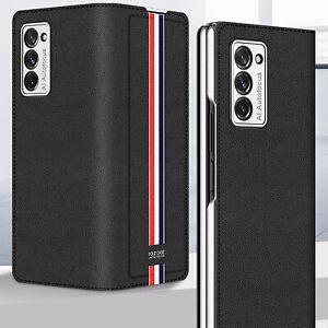 Für Samsung Galaxy Z Fold 2 5G Luxus Leder Hülle Tasche Faltbare Case Cover Etui