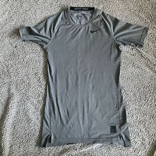 Nike Pro Dri-fit Men's Compression Short Sleeve Gray Top Size Small