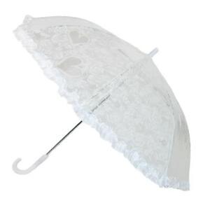 New CTM Kids' Lace Heart Stick Umbrella