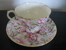 Shelley Maytime Chintz Peach Trim China Teacup & Saucer