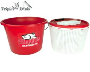 New Stimulate 15L Berley Bucket - 2 in 1 Live Bait Bucket - Extra Large