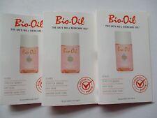 BIO-OIL THE UK'S No1 SKINCARE OIL 3 X 2ML SAMPLE SCARS,STRETCH MARKS,DRY SKIN