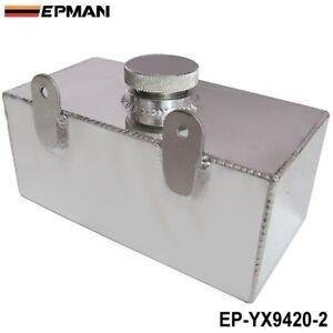 2L Aluminium Universal Polished Windscreen Washer Bottle Intercooler Spray Tank