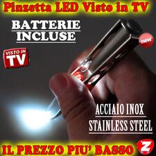 Pinza Pinzetta Per Sopracciglia Ciglia Pinze Eyelashes Con Luce Led Batterie lev