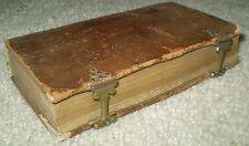 VERY RARE, 2 VOL, 1704 & 1697, ANTIQUE LEATHER W/ CLASPS, LA REGLE DE S. BENOIST