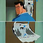 BRUCE TIMM rare CLARK KENT 2 cel SET Livewire DART BOARD Superman STAS WB COA