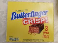 Butterfinger Crisp Bar full box 18 . Original Formula Recipe Candy. 3 bars per p