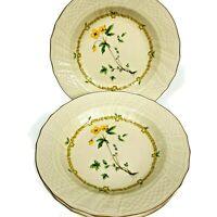 "Set of (4) Vintage ""Royalty"" Mikasa Soup Bowls 9""  Fine Ivory China Floral Japan"