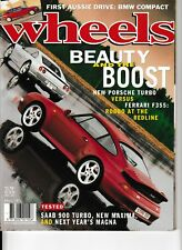 WHEELS magazine April 1995 Audi 80 Nissan Maxima Saab 900 Toyota Vienta BMW 328i
