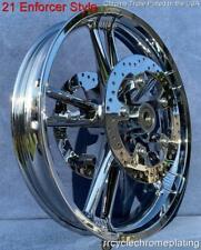 """21"""" Chrome Enforcer Front Wheel W/ Rotors & Hardware 08-20 Street Glide FLHX"""