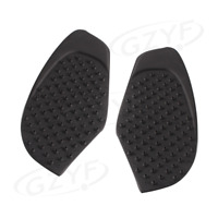 Pair Front Tank Pad Side Gas Protector for 2008-2015 Yamaha YZF R6 PVC Black