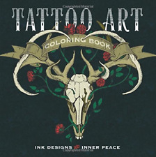 Tattoo Art Coloring Book  BOOK NEW