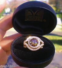 Levian 18k Honey Gold 3.05ctw Chocolate & White Diamond Ring   $27,347.50