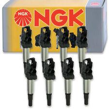 8 pcs NGK Ignition Coil for 2010-2015 BMW 750Li xDrive 4.4L V8 - Spark Plug lf