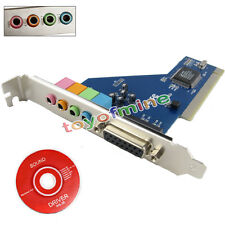 NEW Pro PCI 5.1 Channel 3D Audio 4 Channels Digital Sound Card win Vista 7/8/10