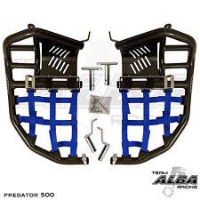 Polaris Predator 500  Nerf Bars  Pro Peg  Alba Racing  Black Blue 208 T7 BL