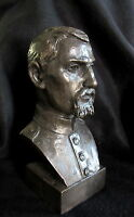 Bronze Lost Wax Cast Sculpture Portrait Civil War Soldier Figure/Bust Original