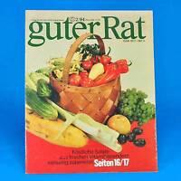 Guter Rat | 2-1984 | Verlag für die Frau | DDR Tonika Klöße Sonnenuhr Salate