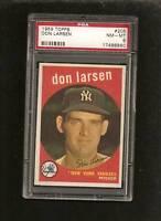1959 Topps # 205 Don Larsen PSA 8 NM-MT