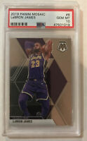 2019-20 Panini Mosaic #8 LeBron James PSA 10 Gem Mint LA Lakers
