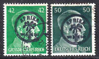 GERMANY 521, 529 AFRIKAKORP OVERPRINTS CDS F/VF TO VF SOUND