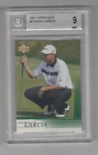 2001 Upper Deck Golf # 3 Sergio Garcia Rookie BGS 9 MINT